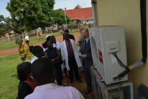 Touring the hospital campus in Jinja, Uganda.